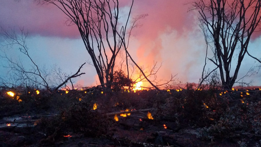 7 am Eruption Update – Lava Shuts Down Highway 132