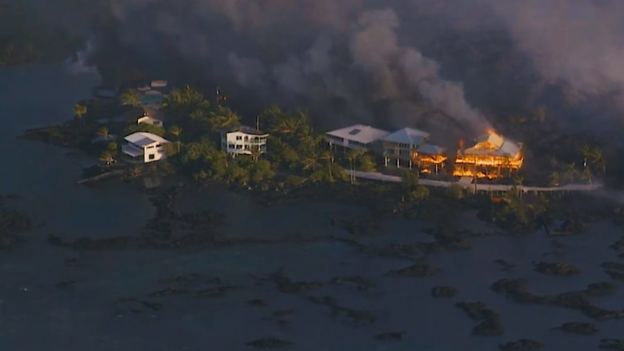VIDEO: 12pm Eruption Update – Lava Covers Most Of Kapoho