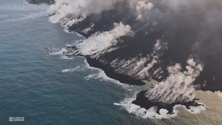 Eruption Digest For June 9: Summit Explosion, Kapoho Lava Delta Grows