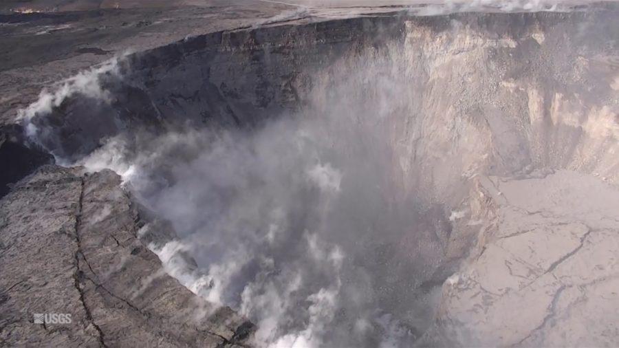 VIDEO:  Drone Captures Dramatic Drop At Kilauea Summit