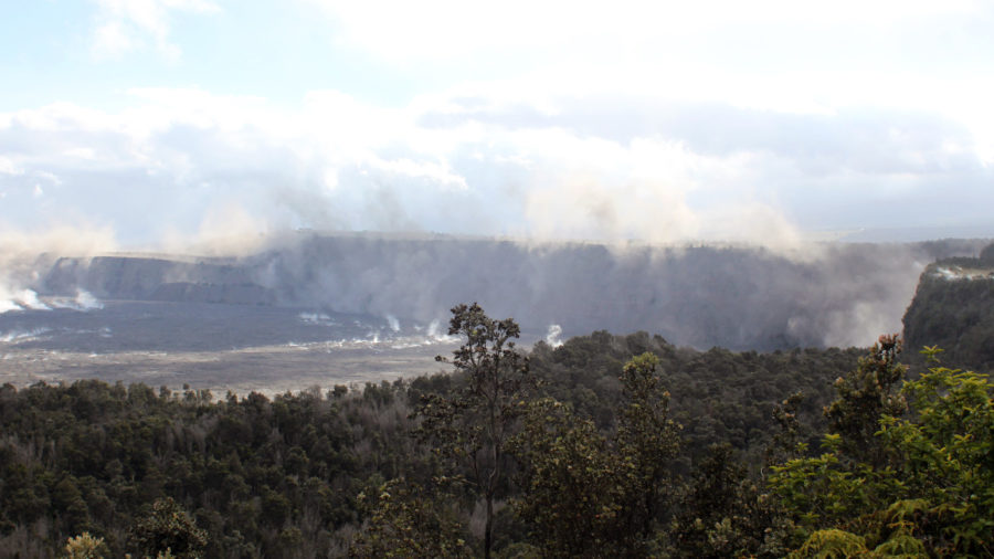 Collapse Explosions At Kilauea Summit Trigger Caldera Rockfalls
