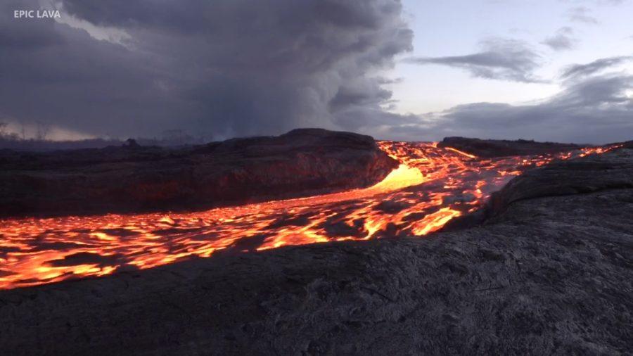 VIDEO: 5 pm Eruption Update – Lava Creeps South Along Puna Shore