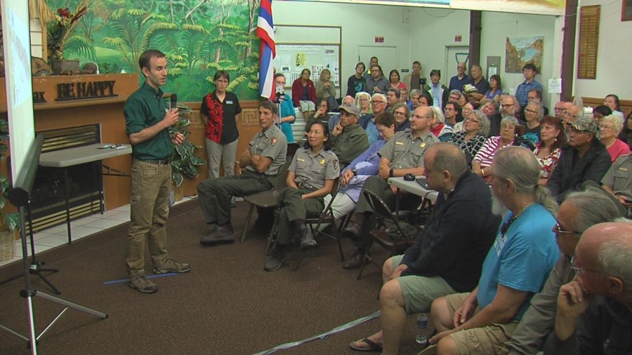 VIDEO: National Park, USGS Meet With Volcano Village