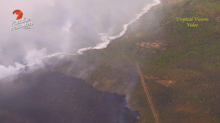VIDEO: 4 pm Eruption Update – Lava Nears Ahalanui Ponds, School