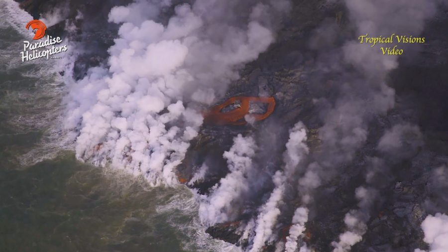 VIDEO: 7 am Eruption Update – Cinder Rd Lava Flow No Longer Advancing
