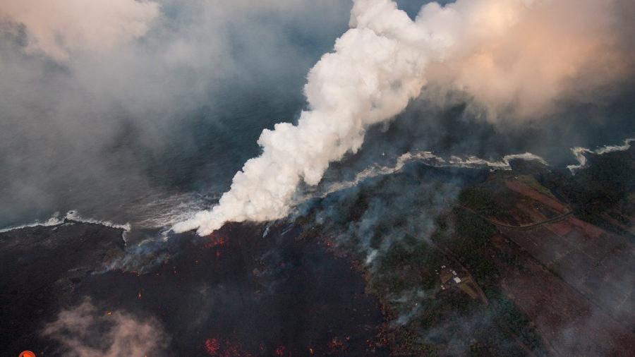 Ahalanui Warm Ponds, Kua O Ka La School Taken By Lava