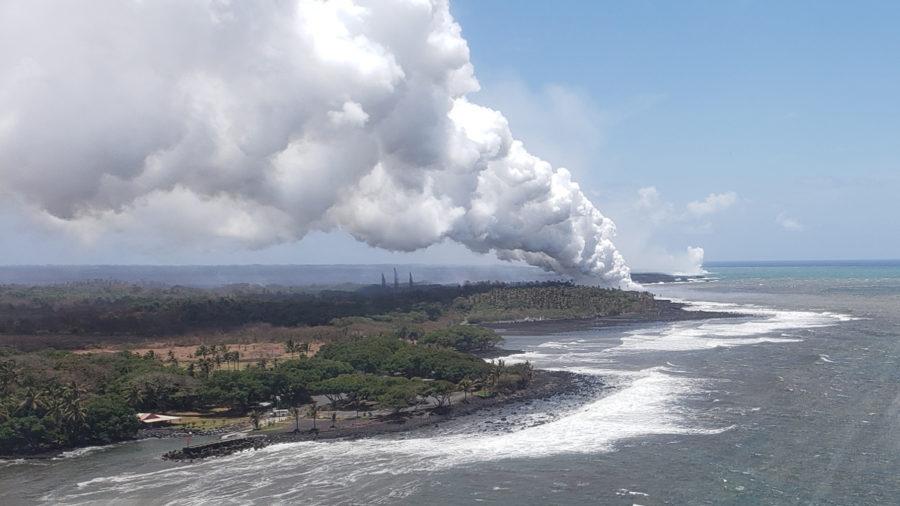 VIDEO: 7 am Eruption Update – Lava Flow Heads Towards Pohoiki