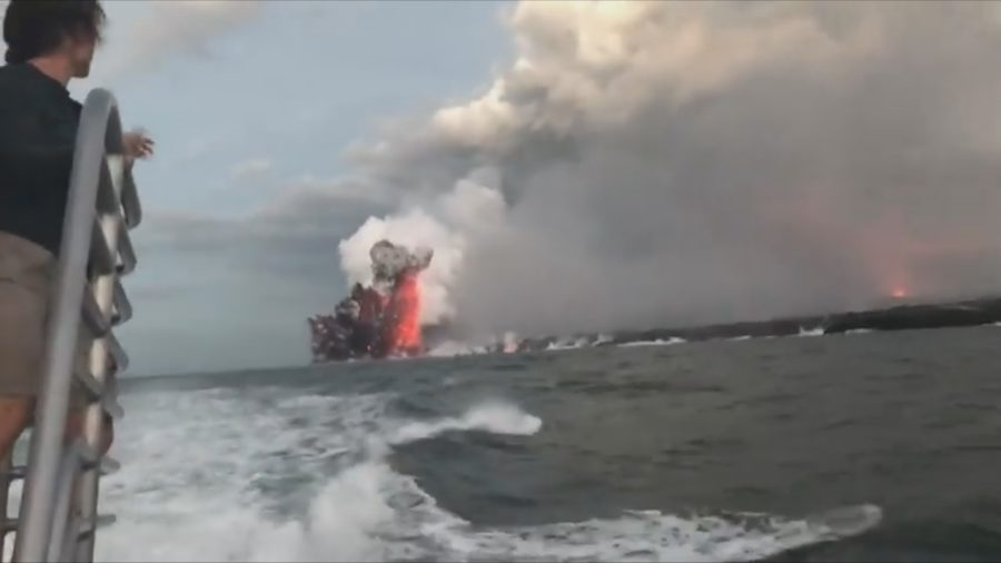 VIDEO: Huge Explosion At Lava Ocean Entry, Injuries Reported
