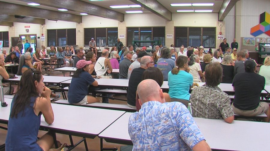 VIDEO: Eruption Meeting Held In Pahoa, Future Housing Discussed