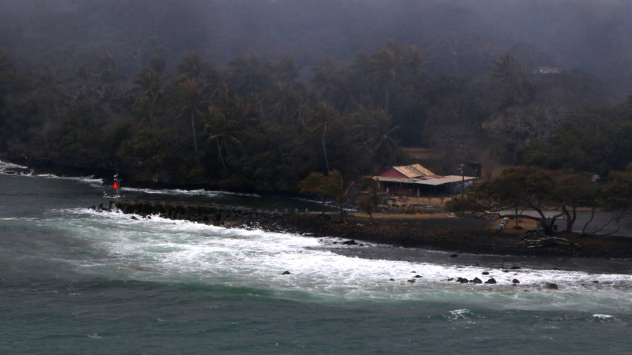 6 pm Eruption Update – Lava Remains 475 Feet From Pohoiki Boat Ramp