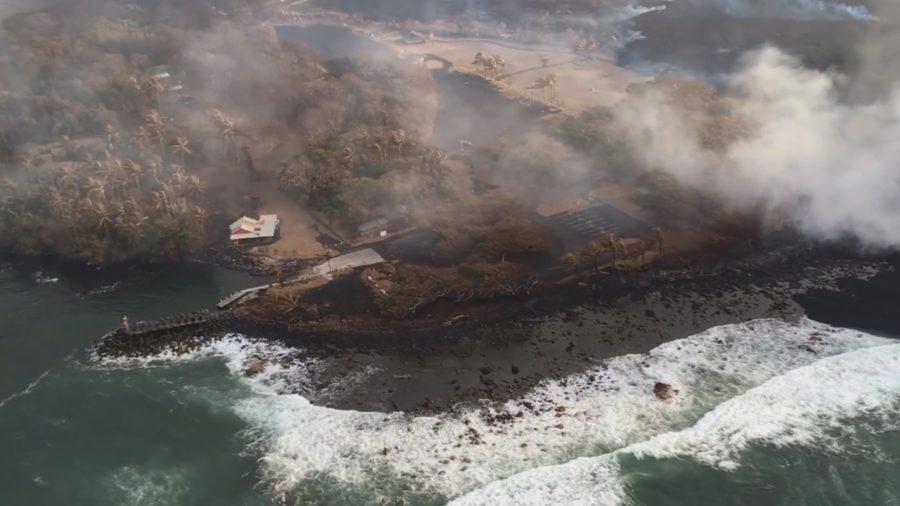 VIDEO: 7 pm Eruption Update – Lava Levels Appear Low