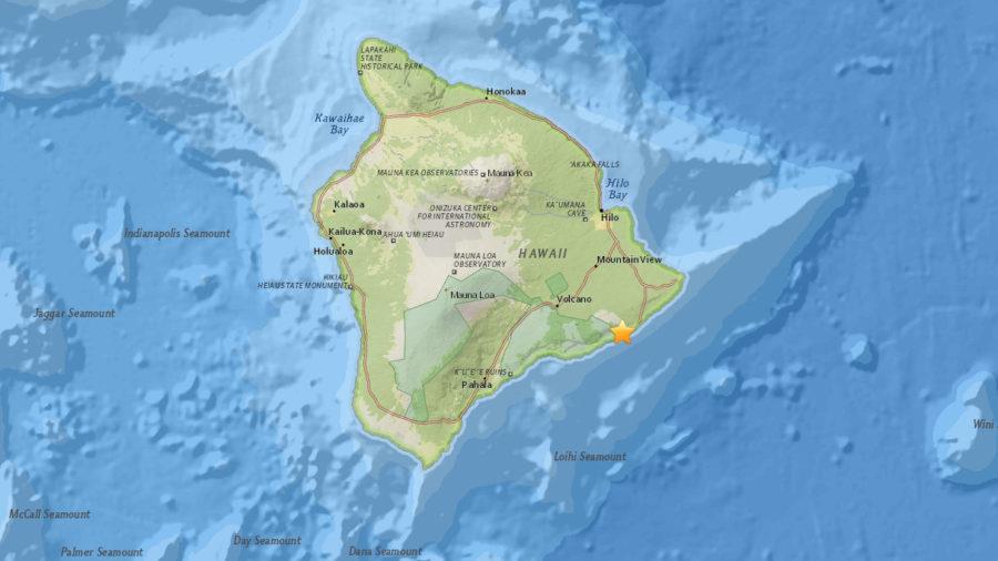 Magnitude 4.4 Earthquake Rattles South Flank Of Kilauea