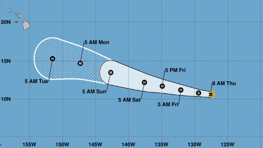 Tropical Storm Lane Expected To Enter Central Pacific As Hurricane