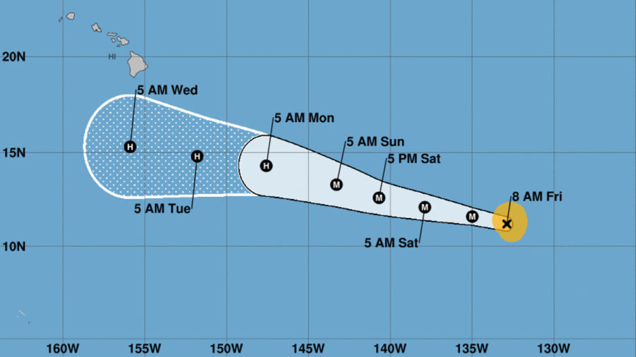 Hurricane Lane Strengthens Into A Category Two Storm