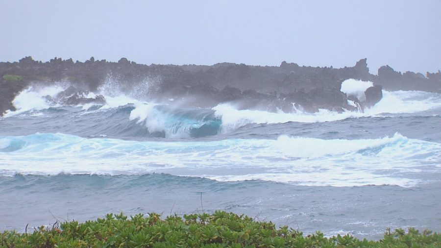 VIDEO: Hurricane Lane Brings High Surf To Ka'u