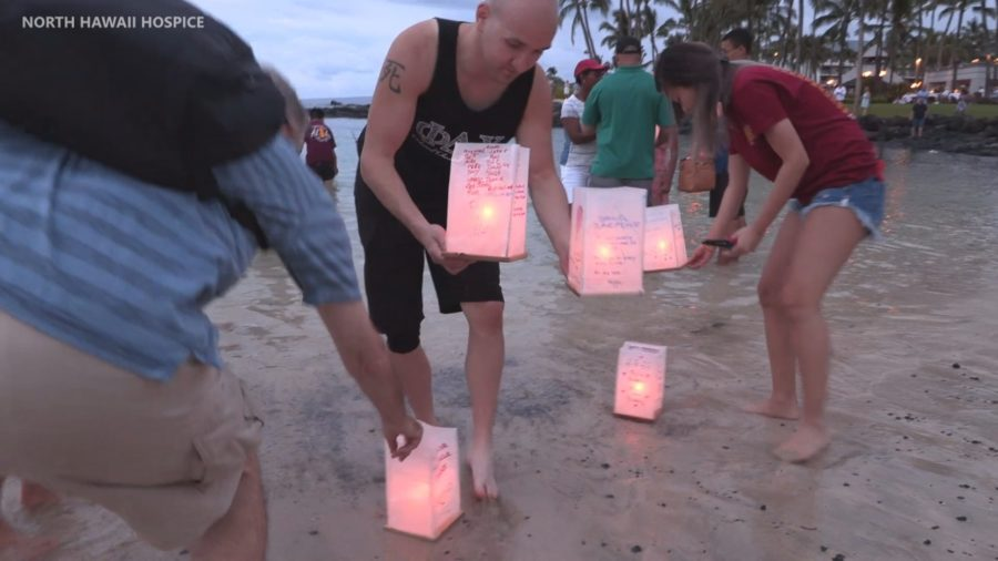 VIDEO: Lantern Floating Ceremony Held Pauoa Bay