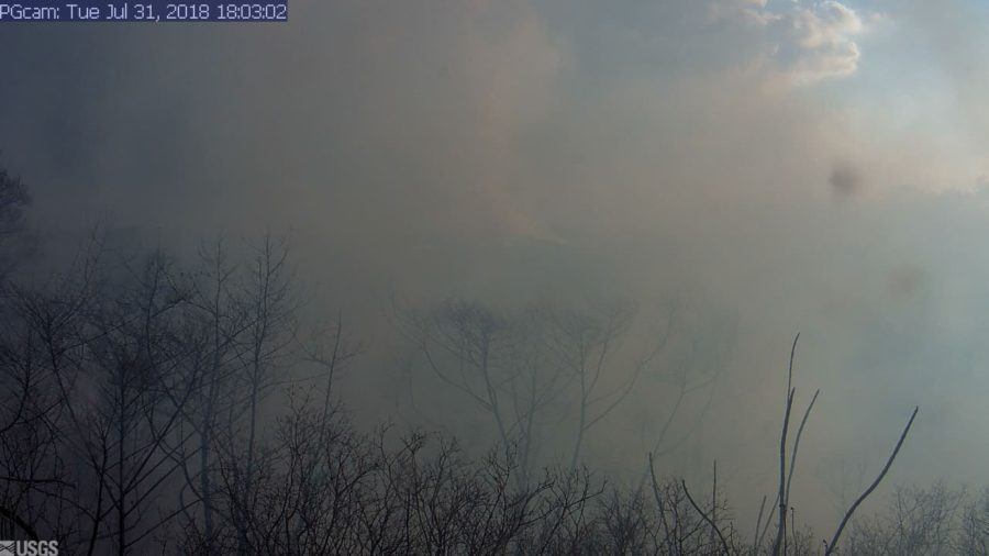Brush Fire Takes Out USGS Webcam Near PGV