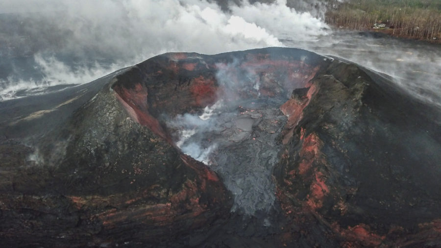 Volcano Update: Lava Filling Crater In Fissure 8 Cone