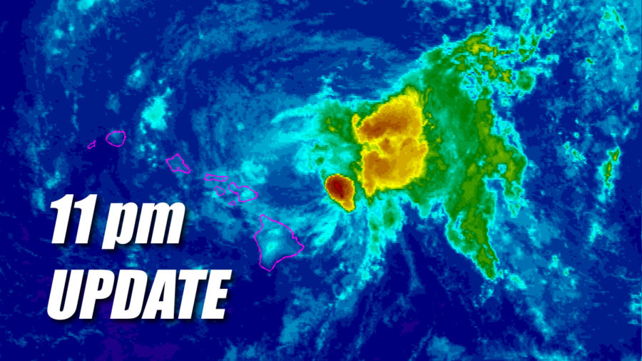 Tropical Storm Olivia Update for 11pm Tuesday