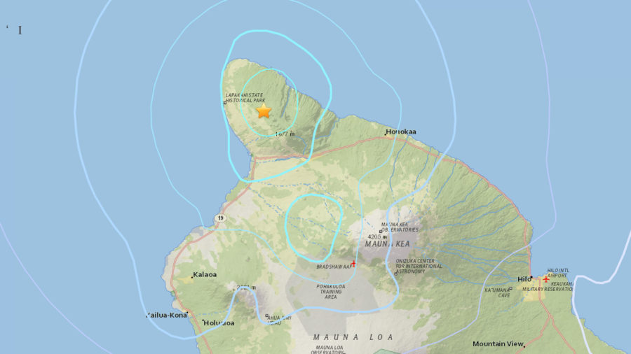 Magnitude 4.0 Earthquake Shakes Kohala Mountain