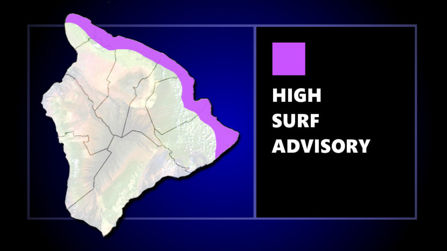 High Surf Advisory For Hawaii North-Facing Shores