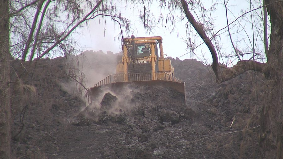 VIDEO: Highway 137 Lava Flow Clearing Work Begins