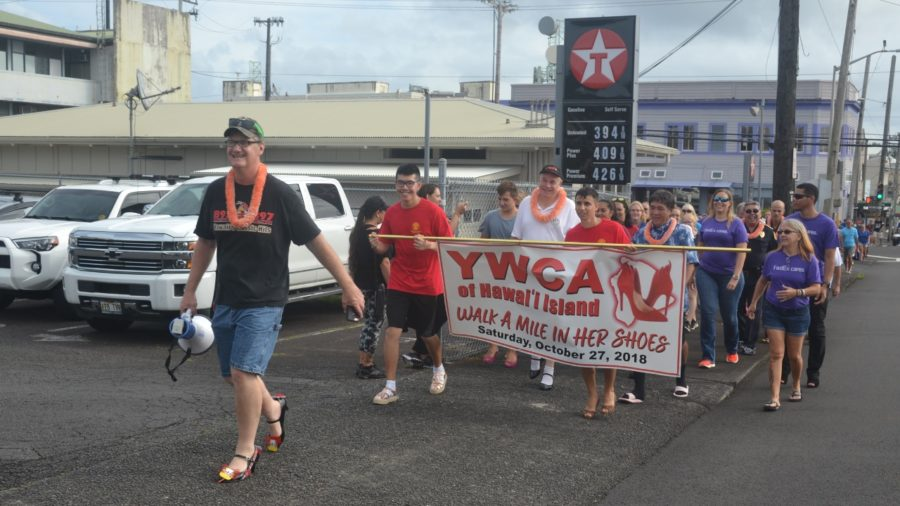 """YWCA """"Walk a Mile in Her Shoes"""" Event Held In Hilo"""