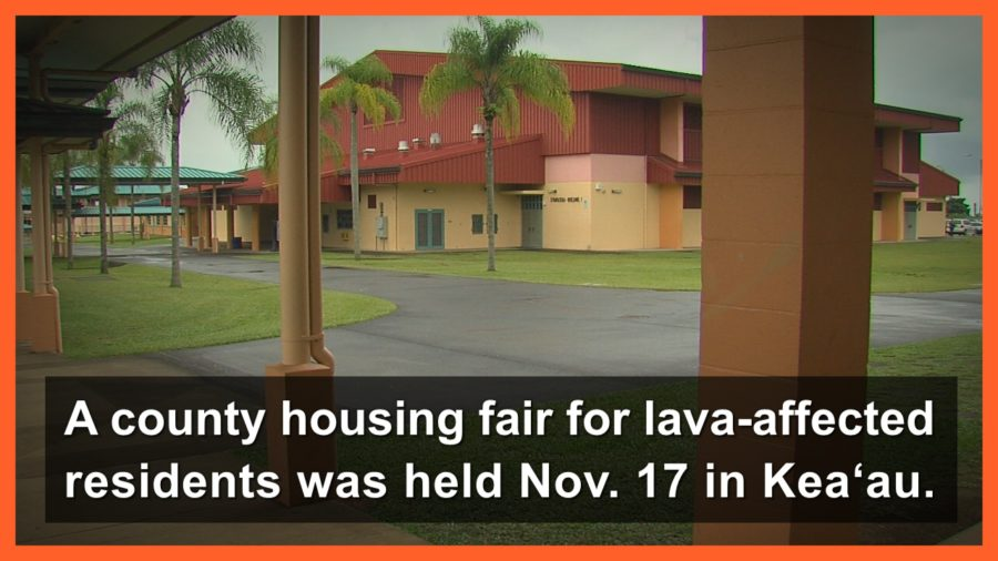 VIDEO: Housing Fair Assists Lava-Affected Residents