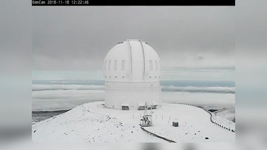 VIDEO: Snow Closes Mauna Kea Access Road Sunday