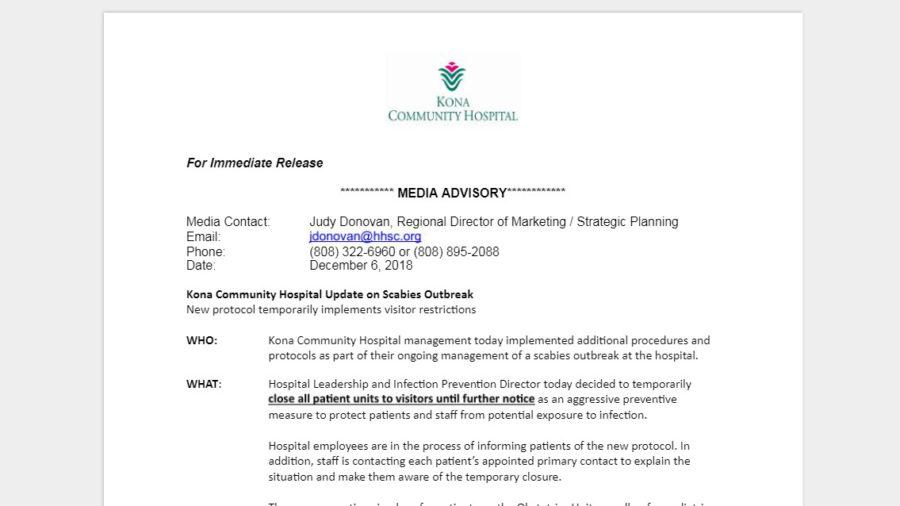 Kona Community Hospital Closes All Patient Units To Visitors