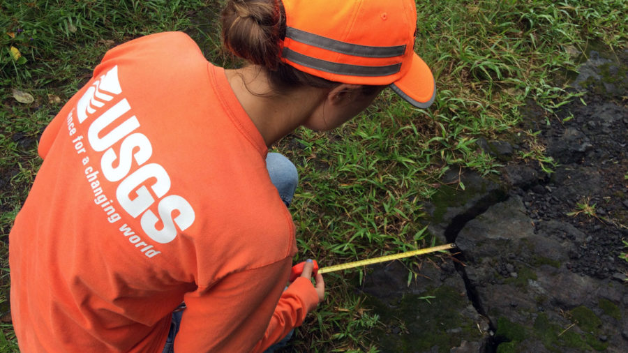 Geologists Checking Cracks In Puna's Lower East Rift Zone