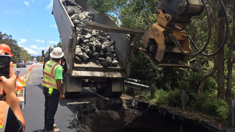 Seismic Repairs Continue On Highway 11 In Volcano