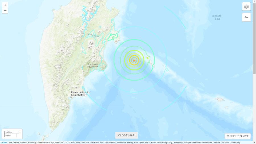 Magnitude 7.4 Earthquake Off Russia