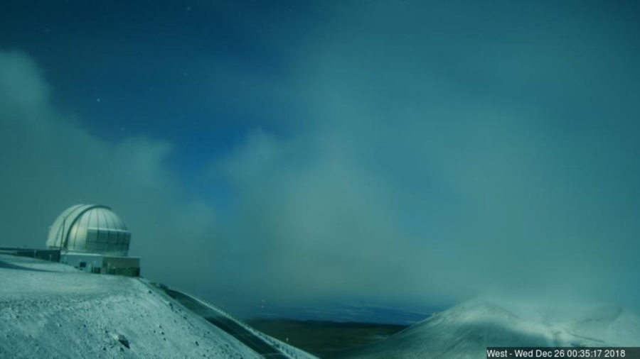 Overnight Snowfall Closes Mauna Kea Access Road