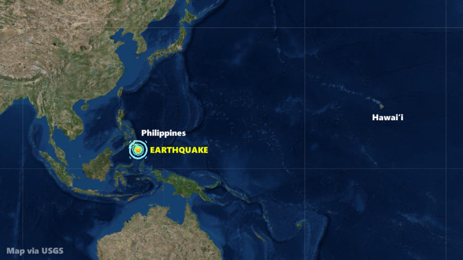 Earthquake Strikes Off Philippines, Tsunami Not Expected For Hawaii