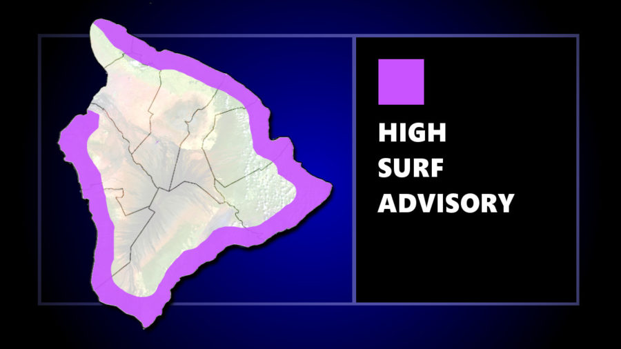 High Surf Advisory Extended To West Hawaii, Gale Warning Also In Effect