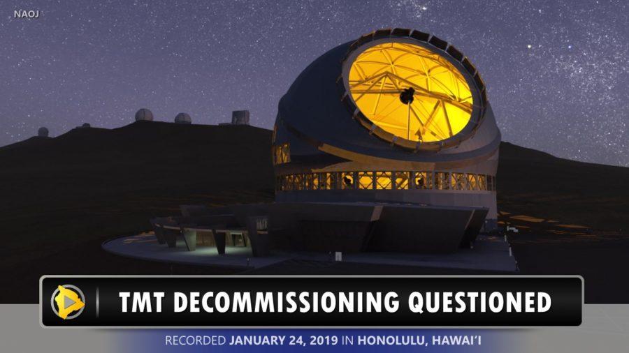 VIDEO: Senators Question TMT Decommissioning