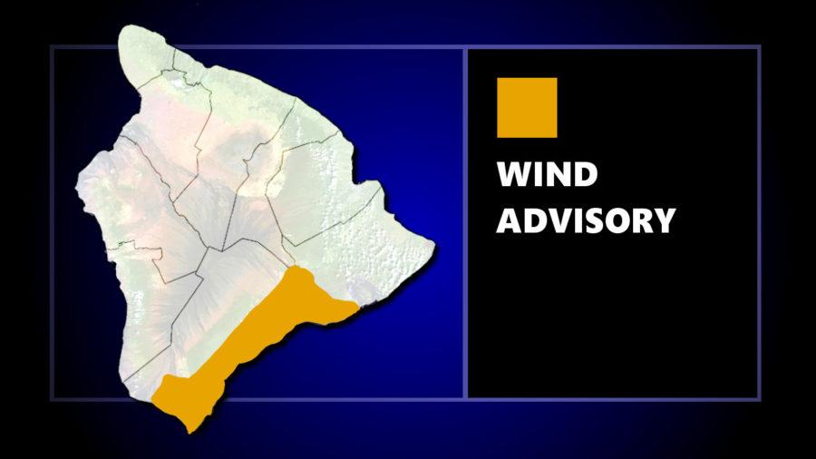 Wind Advisory For Parts Of Puna, Ka'u