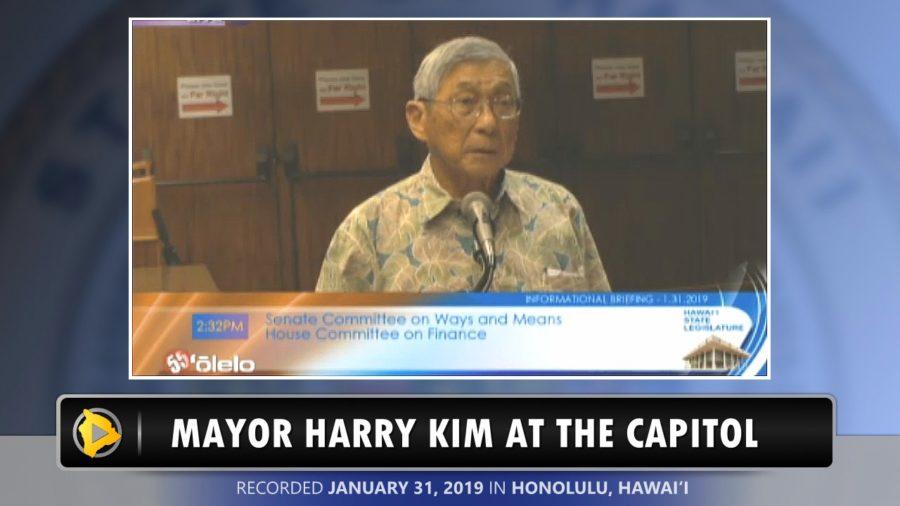 VIDEO: Mayor Harry Kim At The Capitol