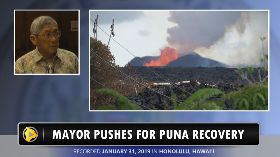 VIDEO: Mayor Pushes For Puna Recovery On Oahu