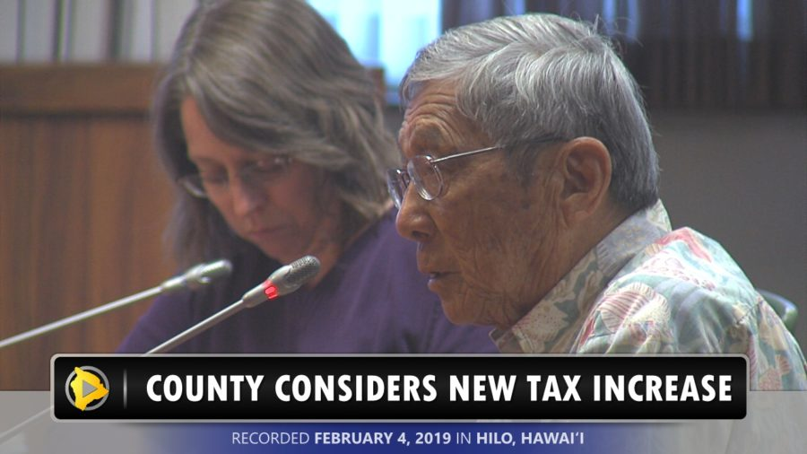 VIDEO: Hawaii County Considers Another Tax Increase