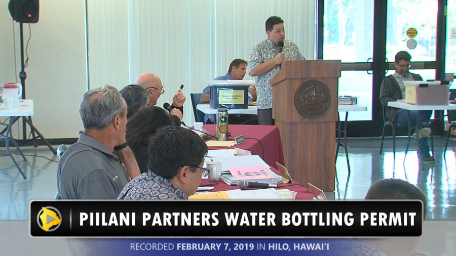 VIDEO: Planning Puts Off Hilo Water Bottling Permit Decision