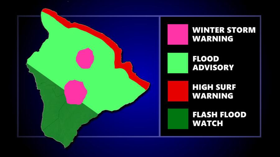 Flood Advisory For Most Of Hawaii Island
