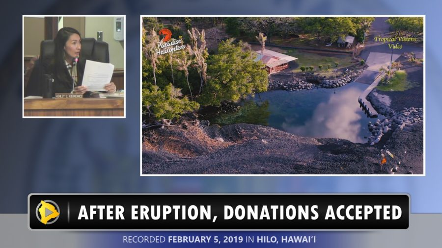 VIDEO: Eruption Disaster Donations Accepted, Use Specified