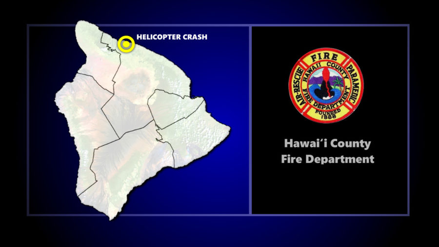 Helicopter Crash Reported Near Honokaa-Waipio Valley Road