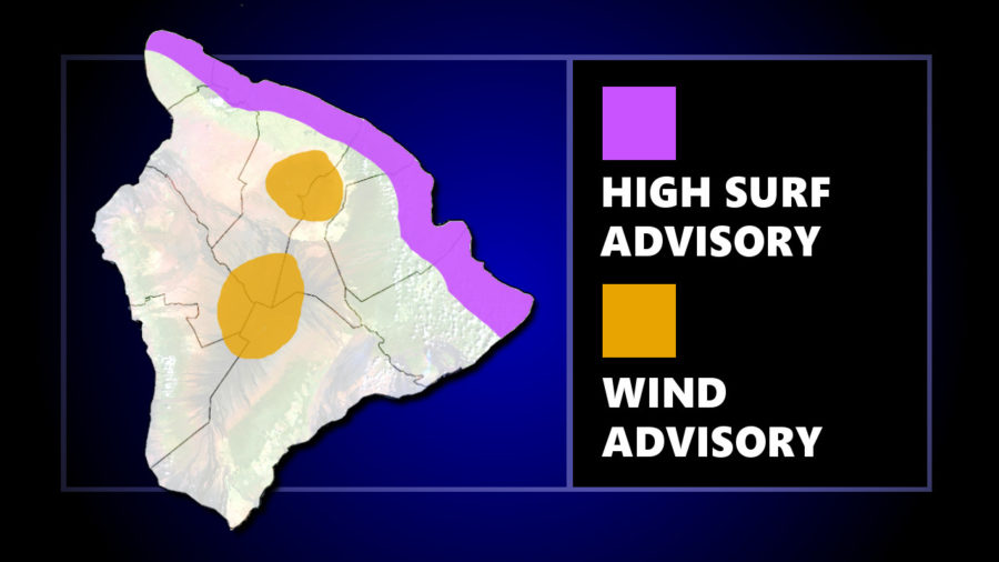 High Surf Advisory, High Winds At Summits