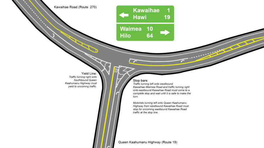 Complaints Bring Change To New Kawaihae, Queen Kaahumanu Intersection