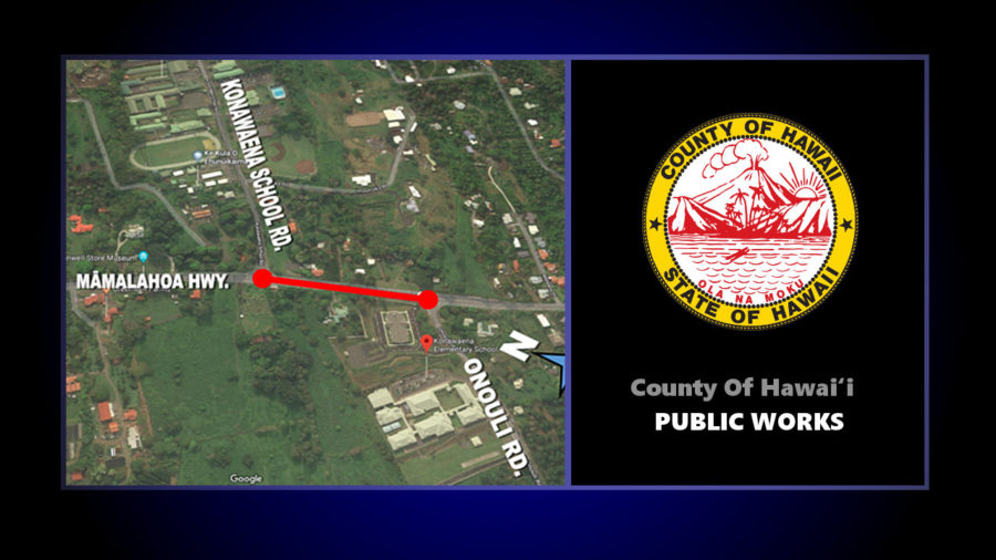South Kona Highway Restriping Work Rescheduled