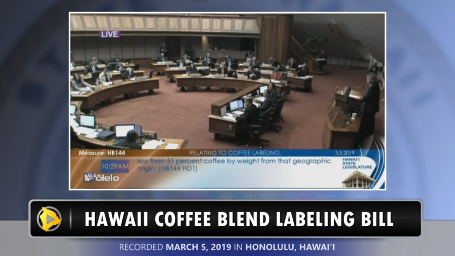 VIDEO: Hawaii Coffee Blend Labeling Bill Passes House