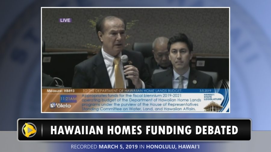 VIDEO: Hawaiian Homes Funding Debated In The House